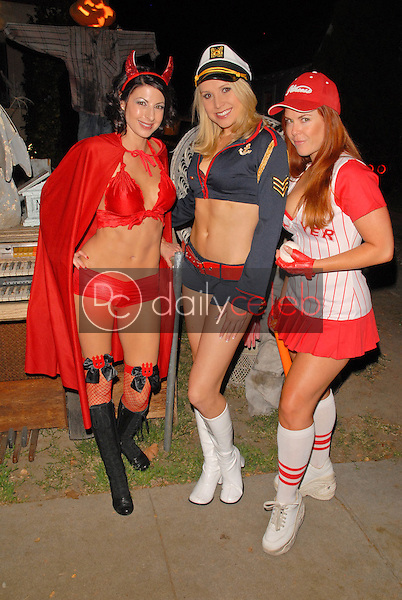 Jamie Carson, Alana Curry and Lisa Cash<br /> preparing for the annual Halloween Bash at the Playboy Mansion, Private Location, Los Angeles, CA. 10-24-09<br /> David Edwards/DailyCeleb.com 818-249-4998