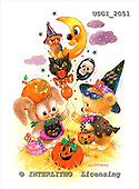 GIORDANO, CUTE ANIMALS, LUSTIGE TIERE, ANIMALITOS DIVERTIDOS, Halloween, paintings+++++,USGI2051,#AC#