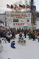 Steven Madsen Willow restart Iditarod 2008.