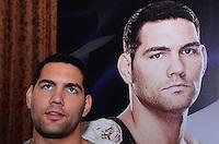 RIO DE JANEIRO, RJ, 29 DE SETEMBRO DE 2013 - UFC / ANDERSON SILVA E CHRIS WEIDMAN- Chris Weidman na coletiva de imprensapara a revanche no UFC 168: WEIDMAN vs. SILVA 2, que ocorre no sábado, dia 28 de dezembro, na MGM Grand Garden Arena, em Las Vegas. campeão peso médio do UFC Chris Weidman e o ex-campeão da categoria Anderson Silva visitaram sete cidades em sete dias, em um hotel em Copacabana, na zona sul do Rio de Janeiro. (Foto: Marcelo Fonseca / Brazil Photo Press).