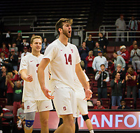 STANFORD, CA - January 17, 2019: Kyler Presho at Maples Pavilion. The Stanford Cardinal defeated UC Irvine 27-25, 17-25, 25-22, and 27-25.