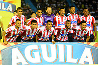 BARRANQUILLA-COLOMBIA, 19-05-2019: Jugadores de Atlético Junior, posan para una foto, antes de partido entre Atlético Junior y Deportes Tolima, de la fecha 3 de los cuadrangulares semifinales por la Liga Águila I 2019, jugado en el estadio Metropolitano Roberto Meléndez de la ciudad de Barranquilla. / Players of Atletico Junior, pose for a photo, prior a match between Atletico Junior and Deportes Tolima, of the 3rd date of the semifinals quarters for the Aguila Leguaje I 2019 played at the Metropolitano Roberto Melendez Stadium in Barranquilla city, Photo: VizzorImage / Alfonso Cervantes / Cont.