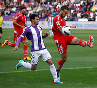 Real Valladolid´s Guerra against Sevilla´s Cala during La Liga match. March 28, 2010. (ALTERPHOTOS/Víctor J Blanco)