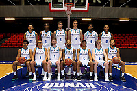 GRONINGEN - Basketbal, Presentatie Donar, Dutch Basketball League, seizoen 2019-2020,  11-09-2019, Teamfoto Achter vlnr  Jeffrey Sedoc,  Donte Thomas,  Matt McCarthy, Thomas Koenes, Deshawn Freeman,  Matt Williams Jr,. Voor vlnr:  Carrington Love, Sheyi Adetunji,  Yoeri Hoexum, Jason Dourisseau,  Leon Williams, Jef de Vries,  Shane Hammink