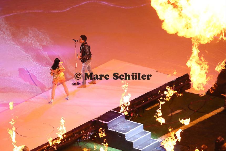 Halbzeitshow mit Katy Perry und Lenny Kravitz - Super Bowl XLIX, Seattle Seahawks vs. New England Patriots, University of Phoenix Stadium, Phoenix