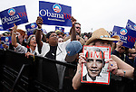 Sen. Barrack Obama supporters rally before a speech held in Austin, Texas on February 23, 2007.