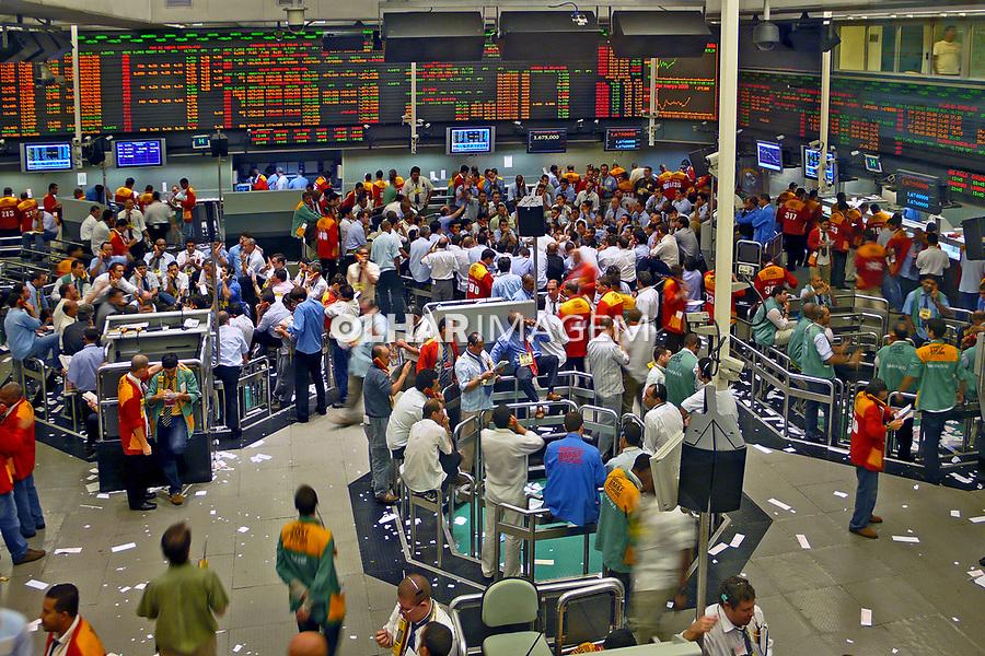 Pregão da Bolsa de Mercadorias e Futuros de São Paulo. 2008. Foto de Rogério Reis.