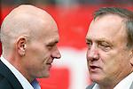 Nederland, Utrecht, 16 september 2012.Eredivisie.Seizoen 2012-2013.FC Utrecht-PSV.De beide trainers. Jan Wouters (l.), trainer-coach van FC Utrecht en Dick Advocaat, trainer-coach van PSV