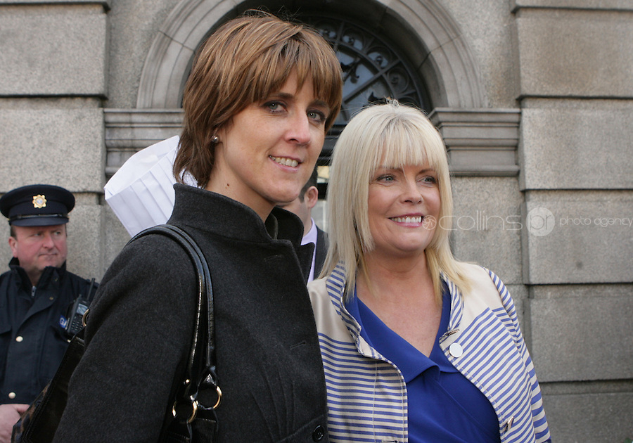 09/03/2011.Fine Gael TD's Michelle Mulherin & Mary Mitchell O' Conor .during the 1st day of the 31st Dail.at Leinster House,  Dublin..Photo: Gareth Chaney Collins