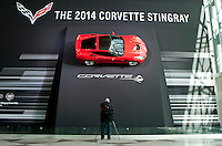 A corvette is seen  at the 2013 New York International Auto Show in New York March 27, 2013. The 113th New York International Auto Show, which runs from March 29 to April 7, features 1,000 vehicles as well the latest in tech, safety and innovation.  .VIEWpress /Kena Betancur