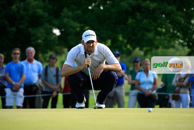 Sergio Garcia (ESP) lines up his putt on the 4th playoff  hole the par3 17th during the Final Day of the BMW International Open at Golf Club Munchen Eichenried, Germany, 26th June 2011 (Photo Eoin Clarke/www.golffile.ie)