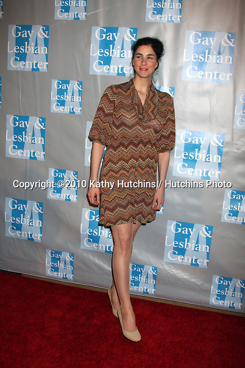 Sarah Silverman.arrives at An Evening with Women - LA Gay & Lesbian Center's Gala.Beverly Hilton Hotel.Beverly Hills, CA.May 1, 2010.©2010 Kathy Hutchins / Hutchins Photo...