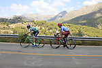 The early breakaway featuring Jonathan Lastra Martinez (ESP) Caja Rural-Seguros-RGA and Willem Jakobus Smit (RSA) Katusha Alpecin on the Cat 2 climb to Puerto de Confrides during Stage 2 of La Vuelta 2019 running 199.6km from Benidorm to Calpe, Spain. 25th August 2019.<br /> Picture: Ann Clarke | Cyclefile<br /> <br /> All photos usage must carry mandatory copyright credit (© Cyclefile | Ann Clarke)