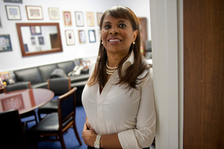 UNITED STATES - OCTOBER 1: Gwen Farmer is an intern for Rep. William Clay, D-Mo. (Photo by Chris Maddaloni/CQ Roll Call)