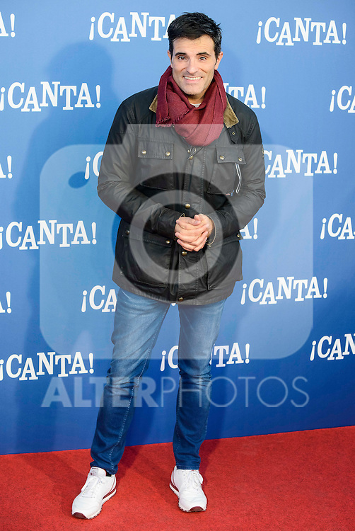 """Luis Larrodera attends to the premiere of the film """"¡Canta!"""" at Cines Capitol in Madrid, Spain. December 18, 2016. (ALTERPHOTOS/BorjaB.Hojas)"""