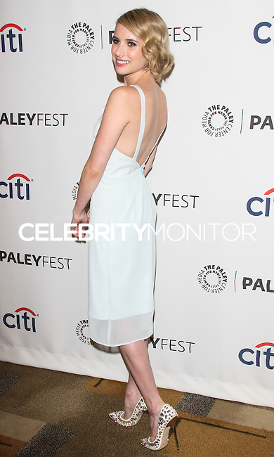 "HOLLYWOOD, LOS ANGELES, CA, USA - MARCH 28: Emma Roberts at the 2014 PaleyFest - ""American Horror Story"" held at the Dolby Theatre on March 28, 2014 in Hollywood, Los Angeles, California, United States. (Photo by Celebrity Monitor)"