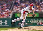 20 May 2014: Washington Nationals starting pitcher Doug Fister on the mound against the Cincinnati Reds, and recording his first win of the season at Nationals Park in Washington, DC. The Nationals defeated the Reds 9-4 to take the second game of their 3-game series. Mandatory Credit: Ed Wolfstein Photo *** RAW (NEF) Image File Available ***
