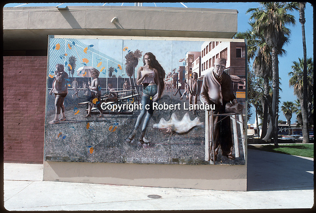 "Mural at Venice Pavilion titled ""Venice on the Half Shell"""