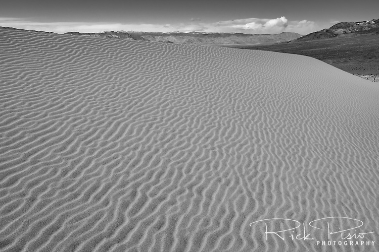 Ripples in the sands of 680 foot tall Eureka Dunes in Death Valley National Park