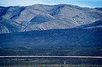The Blue Train passing the Witteberge near Matjiesfontein.