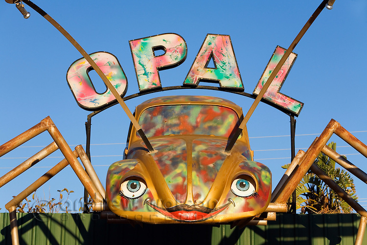 The Opal Bug - an opal shop on the main street in Coober Pedy, South Australia, AUSTRALIA.