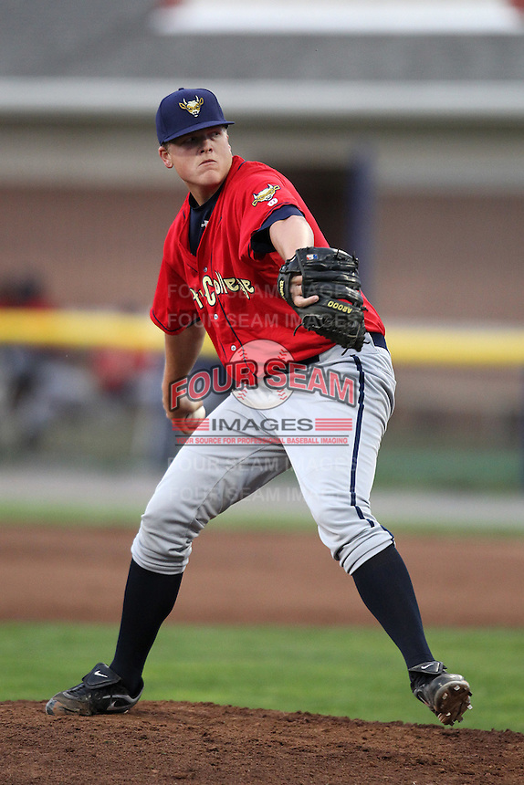 State College Spikes pitcher Kevin Kleis #43 during a game against the Batavia Muckdogs at Dwyer Stadium on July 7, 2011 in Batavia, New York.  Batavia defeated State College 16-3.  (Mike Janes/Four Seam Images)