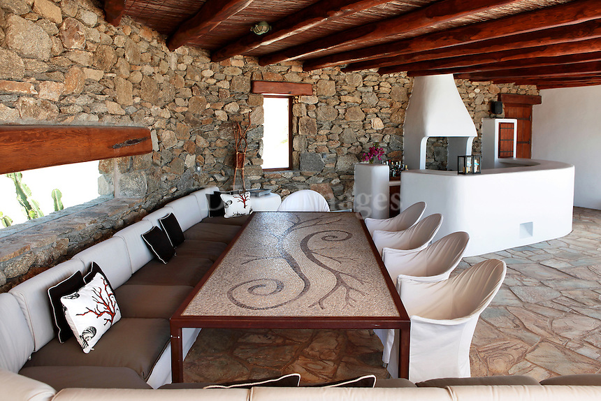 luxury outdoor sitting room
