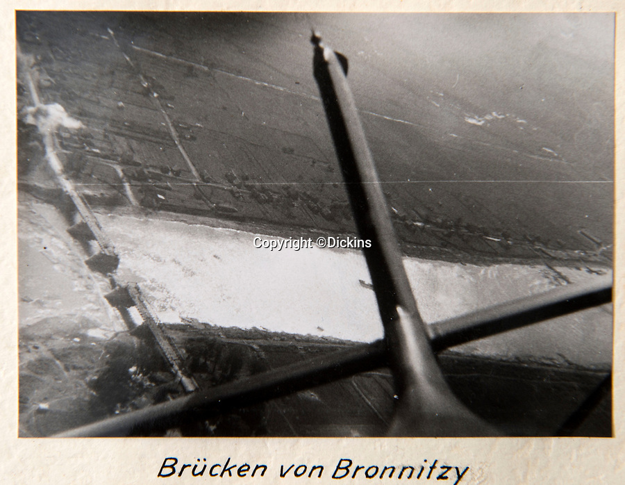 BNPS.co.uk (01202 558833)<br /> Pic: Dickins/BNPS<br /> <br /> Operation Barbarossa - View back to a destoyed bridge.<br /> <br /> The unseen personal photo album of Field Marshal Wolfram von Richthofen, cousin to the legendary Red Baron, which gives an unprecedented insight into his military career in the Third Reich, has been rediscovered.<br /> <br /> Wolfram served in the Red Baron's squadron in the WW1, went on to design the 'Jericho trumpet' of the infamous Stuka Bomber between the wars, before leading the Condor Legion in the Spanish Civil War.<br /> <br /> After the outbreak of WW2 the fascinating album shows Richthofen's lead roll in Operation Barbarossa - the Nazi's suprise invasion of Communist Russia and their race to conquer the vast country before the onset of the notorious Russian winter.<br /> <br /> The two albums were taken from Berlin by a British soldier at the end of the Second World War who kept it for 60 years before it was passed into the hands of a private collector.<br /> <br /> Dickins auctions are selling the historic albums with a £20,000 estimate on 31st March.
