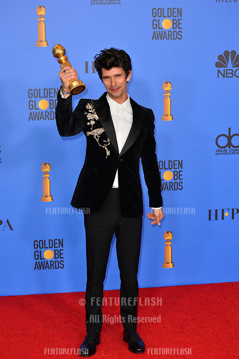 LOS ANGELES, CA. January 06, 2019: Ben Wishaw at the 2019 Golden Globe Awards at the Beverly Hilton Hotel.<br /> Picture: Paul Smith/Featureflash