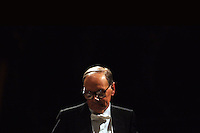 ENNIO MORRICONE IN THE PICTURE THE CONDUCTOR ENNIO MORRICONE DURING THE CONCERT BRESCIA 16/12/2007 PHOTO BY MATTEO BIATTA
