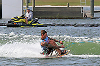 ORLANDO, FL - April 29:  Nathan Smith AUS, finishes second in the Adaptive Sitboarding Division at the WWA Nautique Wake Open 2017 at  the Orlando Watersports Complex on April 29, 2017 in Orlando, Florida. (Photo by Liz Lamont/Eclipse Sportswire/Getty Images)