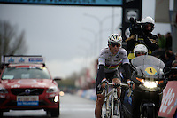 World Champion Michal Kwiatkowski (POL/Ettix-Quickstep) crossing the finish line 4th<br /> <br /> 70th Dwars Door Vlaanderen 2015