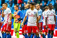 Football: Germany, 1. Bundesliga, Hamburger SV (HSV) - SV Darmstadt 98<br /> Wood, Bobby (7, Hamburger SV, HSV), Kostic, Filip (17, Hamburger SV, HSV), Douglas, Santos (6, Hamburger SV, HSV),