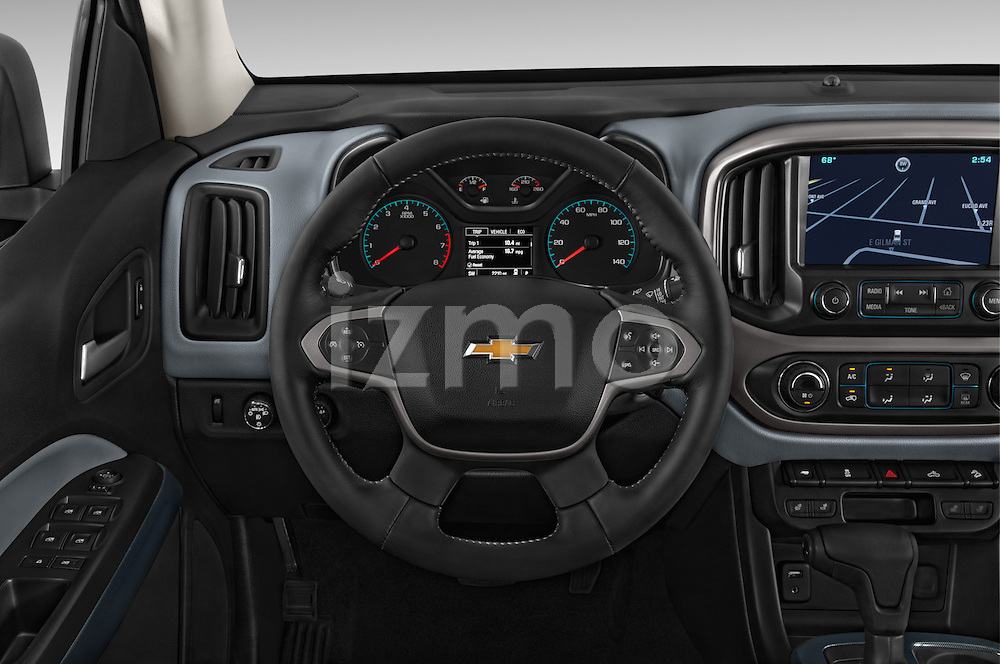 Car pictures of steering wheel view of a 2015 Chevrolet Colorado Z71 Crew Cab 4 Door Pick Up Steering Wheel