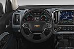 Car pictures of steering wheel view of a 2015 Chevrolet Colorado Z71 Crew Cab 4 Door Pick Up Steering Wheel
