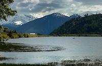 Lake Resia, Italian/ Austrian border.