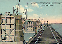 Florida East Coast Railway construction.From the collection of Christopher C. Belland