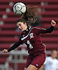 Patty Cammarano #1 of North Shore goes up for a header during a Nassau County Class A varsity girls soccer quarterfinal against host Garden City High School on Wednesday, Oct. 26, 2016. Garden City won by a score of 1-0.