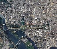 aerial photo map of Washington, DC, 2011