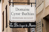 Dom Cyrot Buthiau. The village. Pommard, Cote de Beaune, d'Or, Burgundy, France