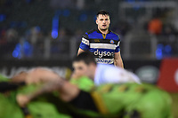 Josh Lewis of Bath Rugby watches a scrum. Anglo-Welsh Cup Semi Final, between Bath Rugby and Northampton Saints on March 9, 2018 at the Recreation Ground in Bath, England. Photo by: Patrick Khachfe / Onside Images