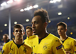 Dortmund's Pierre-Emerick Aubameyang celebrates at the final whistle  during the Europa League match at White Hart Lane Stadium.  Photo credit should read: David Klein/Sportimage