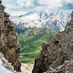 Marmolada Glacier as viewed from Passo Pordoi, Italian Alps, ITALY