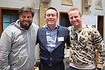 SOESTERBERG - Technisch Kader congres 2015 olv Topcoach Koen Gonnissen. Koen met Max Caldas en Sjoerd Marijne. COPYRIGHT KOEN SUYK
