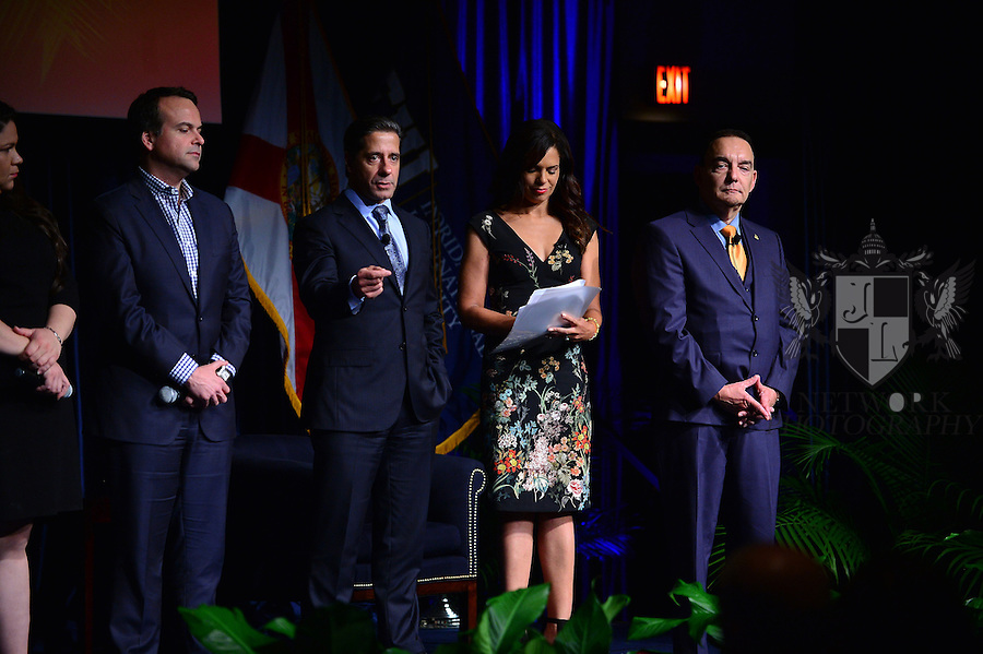 """MIAMI, FL - SEPTEMBER 28: Gaby Pacheco,National Dreamer Advocate, Washington D.C., Jorge Plasencia, Co-founder and CEO of República and immediate past chairman of NCLR, Alberto Carvalho, Superintendent of Miami-Dade County Public Schools, Soledad O'Brien, Award-winning Journalist and  Dr. José A. Vicente, President, Miami Dade College's Wolfson Campus attends and Hosts the """"I Am Latino In America"""" conversation and Speaking tour at Florida International University presented by Northwestern Mutual on Monday September 28, 2015 in Miami, Florida. ( Photo by Johnny Louis / jlnphotography.com )"""
