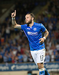 St Johnstone v FC Luzern...24.07.14  Europa League 2nd Round Qualifier<br /> Stevie May celebrates his penalty<br /> Picture by Graeme Hart.<br /> Copyright Perthshire Picture Agency<br /> Tel: 01738 623350  Mobile: 07990 594431
