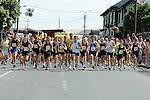 The start of the Dunleer 4 mile run. Photo:Colin Bell/pressphotos.ie
