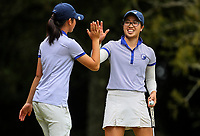 Caryn Khoo of Auckland celebrates. Day Four of the Toro Interprovincial Women's Championship, Sherwood Golf Club, Whangarei,  New Zealand. Friday 8 December 2017. Photo: Simon Watts/www.bwmedia.co.nz