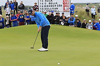 Andy Sullivan (ENG) putts on the 17th green during Saturday's Round 3 of the Dubai Duty Free Irish Open 2019, held at Lahinch Golf Club, Lahinch, Ireland. 6th July 2019.<br /> Picture: Eoin Clarke | Golffile<br /> <br /> <br /> All photos usage must carry mandatory copyright credit (© Golffile | Eoin Clarke)