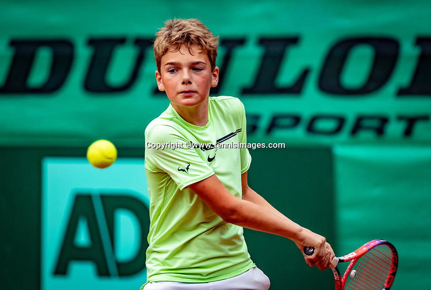 Hilversum, Netherlands, August 8, 2018, National Junior Championships, NJK, Ivar Vinke (NED)<br /> Photo: Tennisimages/Henk Koster